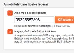 Fizetés mobillal - első lépés